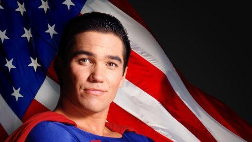 Dean Cain depicted as Super Man